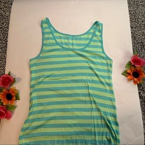 Blue and Green Stripe Tank Top